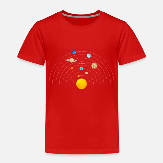 Here T-Shirts - You are here Solar System - Kids' Premium T-Shirt red