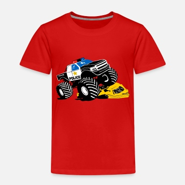 Monster Polizei Monster Truck - Big Foot - Kinder Premium T-Shirt