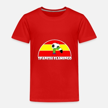 Spanish football Lawn Flamingo - Kids' Premium T-Shirt
