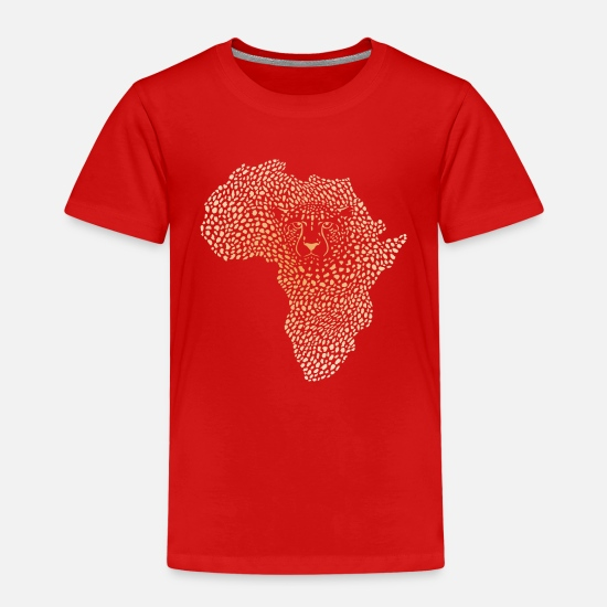 Africa T-Shirts - Symbol Africa in the cheetah camouflage - Kids' Premium T-Shirt red