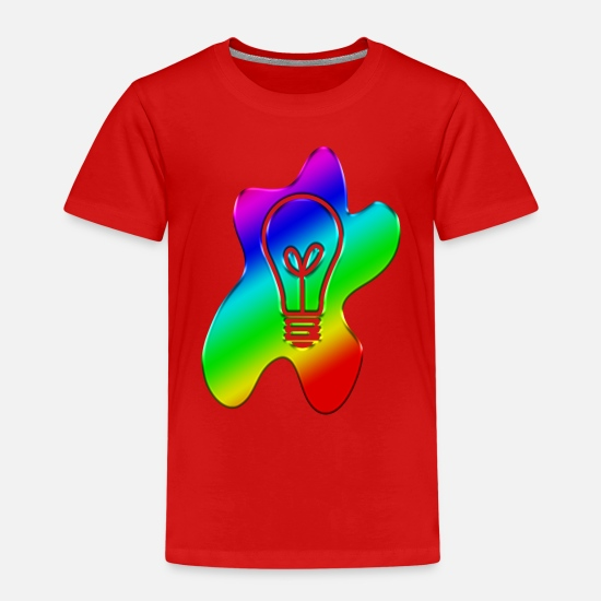 Gift Idea T-Shirts - A blob of light - Kids' Premium T-Shirt red