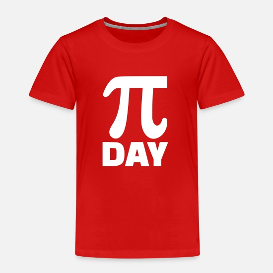 Pi T-Shirts - Pi Day - Kinder Premium T-Shirt Rot