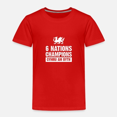 Wales Rugby Wales Six Nations Rugby Champions - Kids' Premium T-Shirt