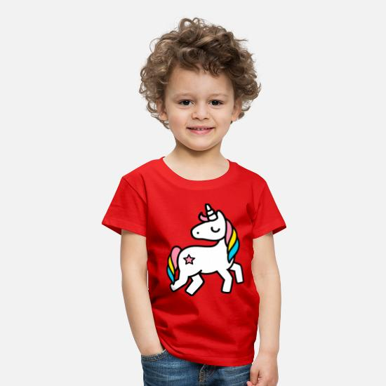 Barn T-shirts - unicorn - Premium T-shirt barn röd