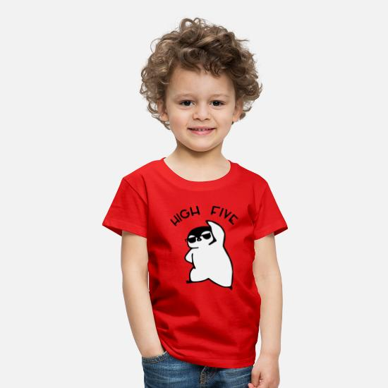 Highheels T-Shirts - High Five - Penguin - Kinder Premium T-Shirt Rot