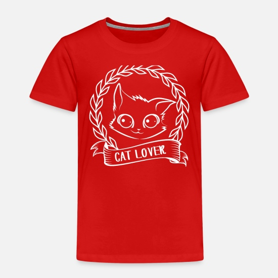 Cat T-Shirts - Cat - Cats - Cat Lover - Cat Lover - Kids' Premium T-Shirt red
