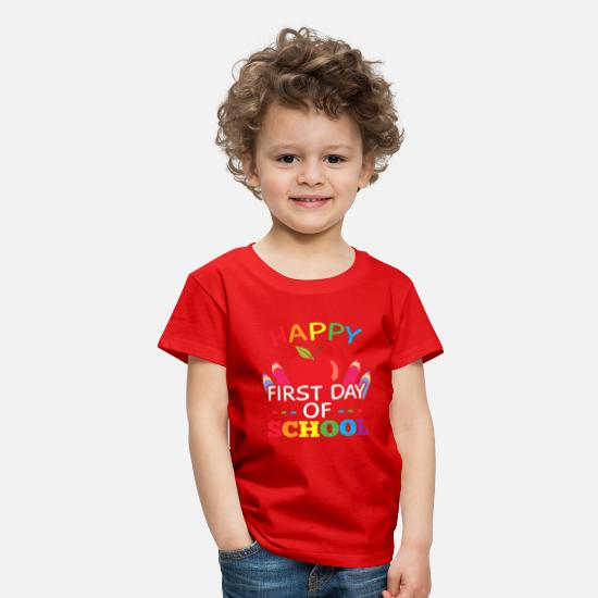 First T-Shirts - Happy First Day of School - Kids' Premium T-Shirt red