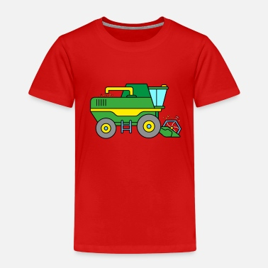Combine Combine harvester on the farm - Kids' Premium T-Shirt