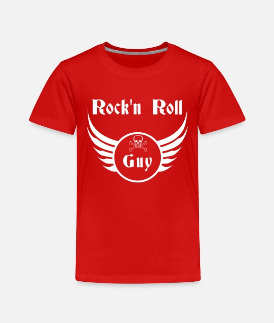 Message T-Shirts - Rock and roll guy - Kids' Premium T-Shirt red