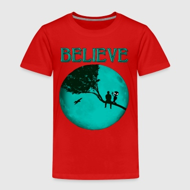Believe Alien Moon - Kids' Premium T-Shirt