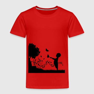 Kind mit Schmetterling - Kinder Premium T-Shirt