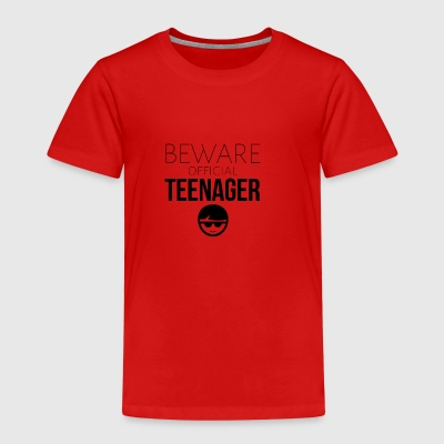 Pas på den officielle teenager - Børne premium T-shirt