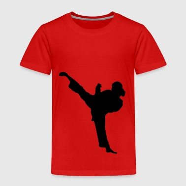 Karate fighter silhouette 5 - T-shirt Premium Enfant