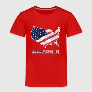 Amerikanska flaggan USA Independence Day - Premium-T-shirt barn