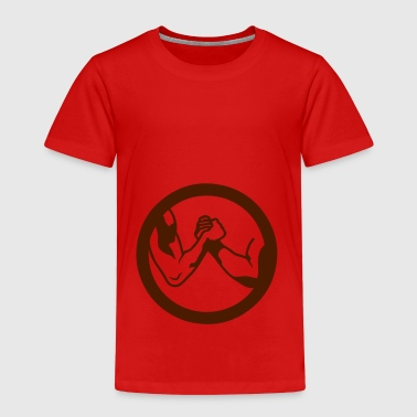 arm wrestling arm iron logo16 - Kids' Premium T-Shirt