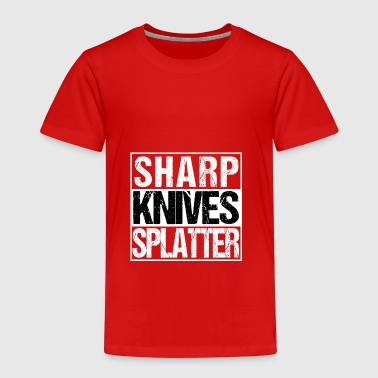 Sharp Knives Splatter Horrorfilm BMovie Jäger Koch - Kinder Premium T-Shirt