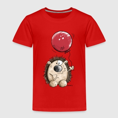 Hedgehog with balloon - Kids' Premium T-Shirt