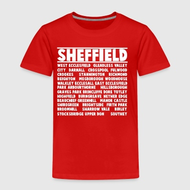 Sheffield City (White) - Børne premium T-shirt