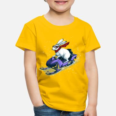Snowmobile Hare Snowmobile - Kids' Premium T-Shirt