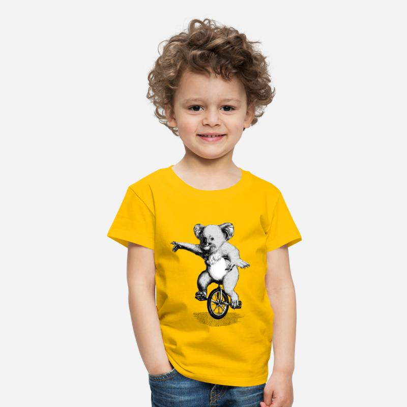 Bestsellers Q4 2018 T-Shirts - Koala Unicycle - Kids' Premium T-Shirt sun yellow