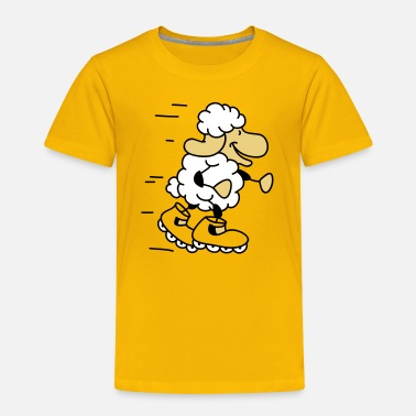 Inliner Little Sheep loopt inliner - Kinderen Premium T-shirt