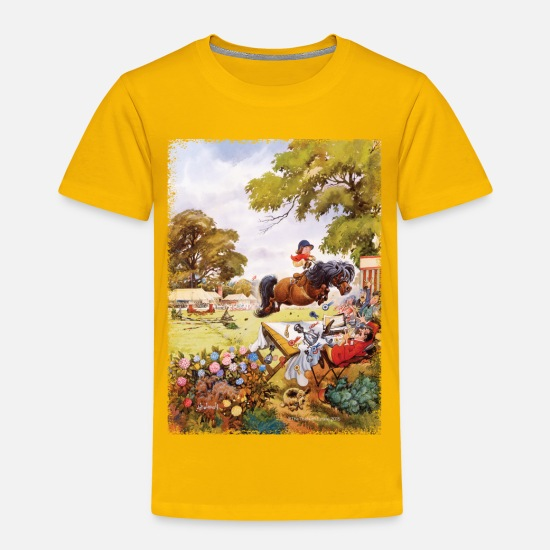 Officialbrands T-Shirts - PonyTournament Thelwell Cartoon - Kids' Premium T-Shirt sun yellow
