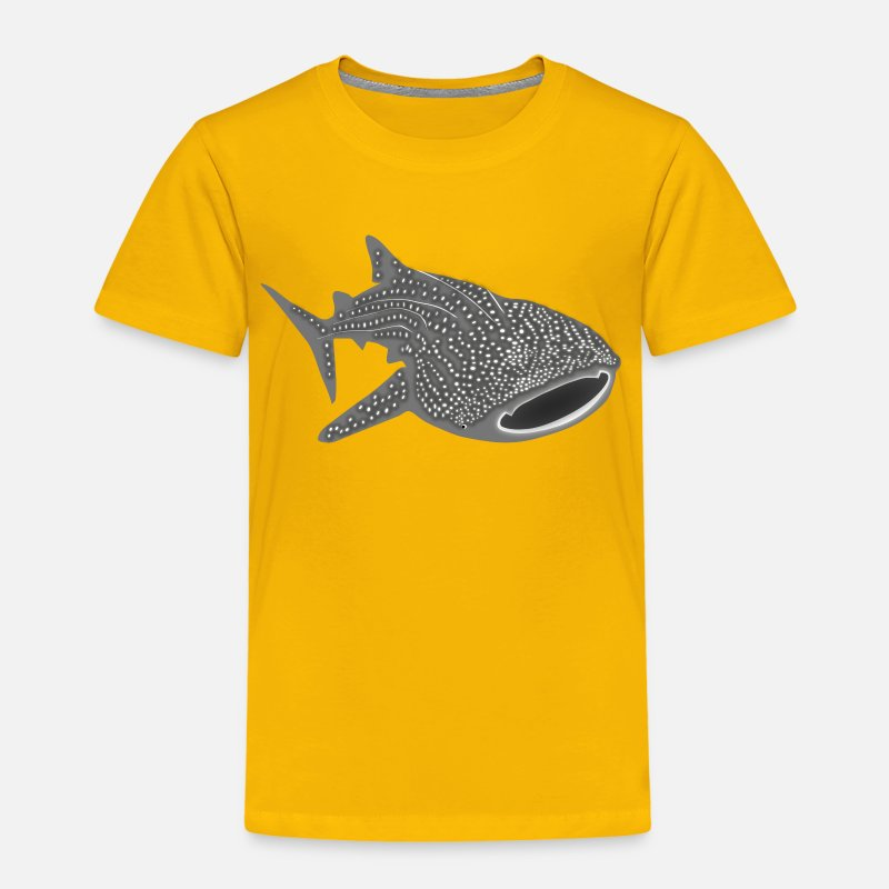 Bestsellers Q4 2018 T-Shirts -  whale shark fish dive diver diving endangered species - Kids' Premium T-Shirt sun yellow