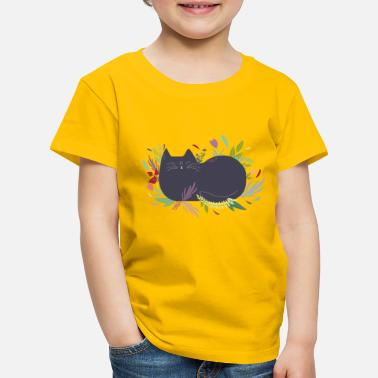 Cats And Dogs Collection Cat in the Flowergarden - Kids' Premium T-Shirt