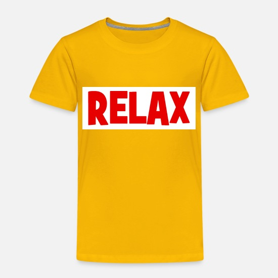 Indie T-shirts - RELAX - relax - relax - chill - chill - T-shirt premium Enfant jaune soleil