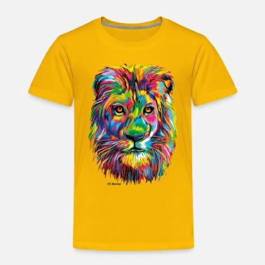PD Moreno Colorful Lion - Kids' Premium T-Shirt