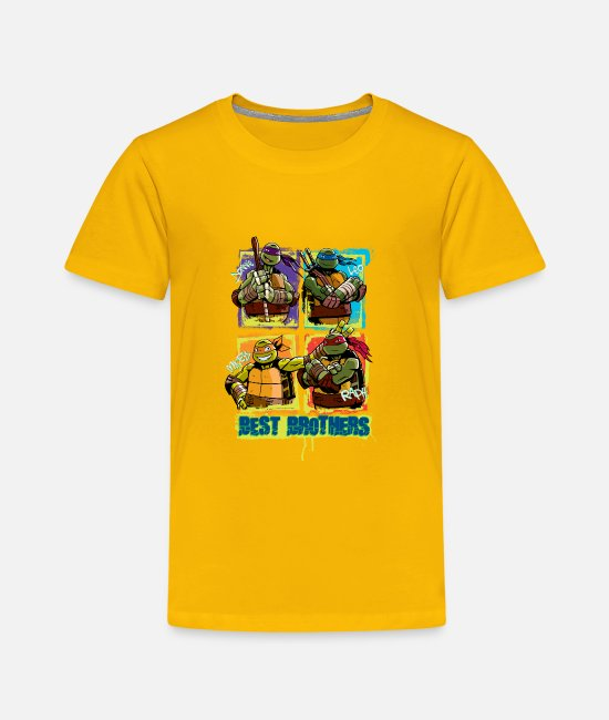 Pizza Camisetas - Teenage Premium Shirt TURTLES 'Best Brothers' - Camiseta premium niño amarillo sol