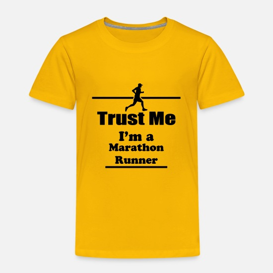 Funny T-Shirts - Trust Me I'm a Runner - Marathon - Run - Running - Kids' Premium T-Shirt sun yellow