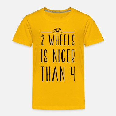 FIXED GEAR: 2 WHEELS IS NICER - Kinder Premium T-Shirt