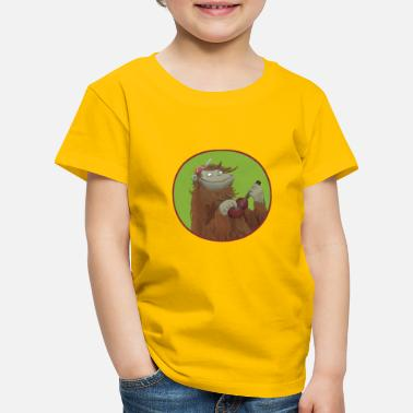 Monkey Monkey with ukulele - Kids' Premium T-Shirt
