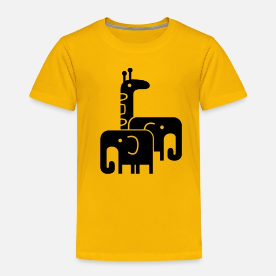 Bestsellers Q4 2018 T-Shirts - cute animals - Kids' Premium T-Shirt sun yellow