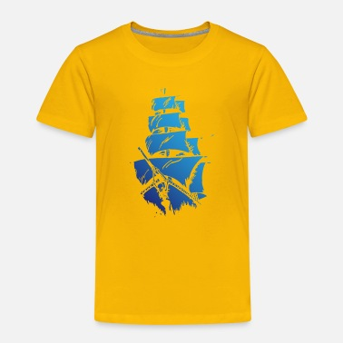 Blue ship - Kids' Premium T-Shirt