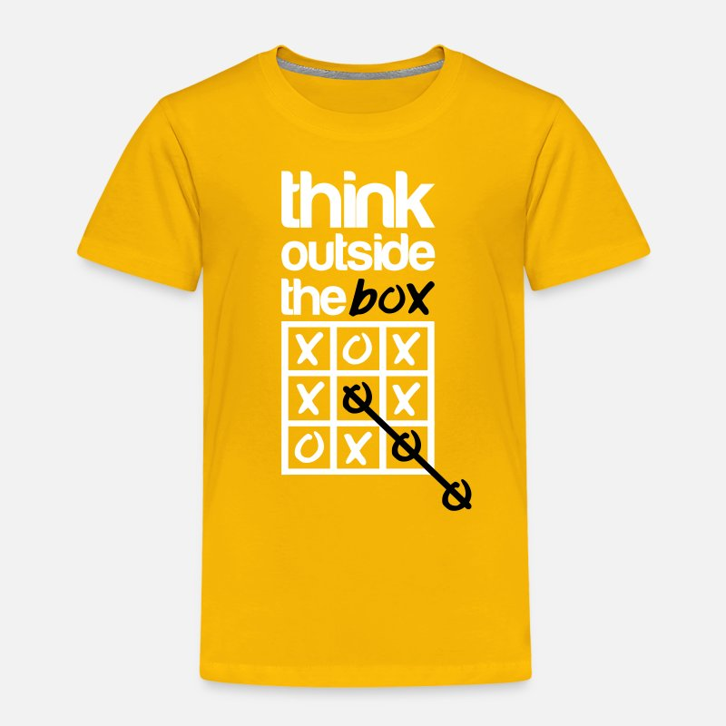 Grappig T-Shirts - Think outside the box - Kinderen premium T-shirt zongeel