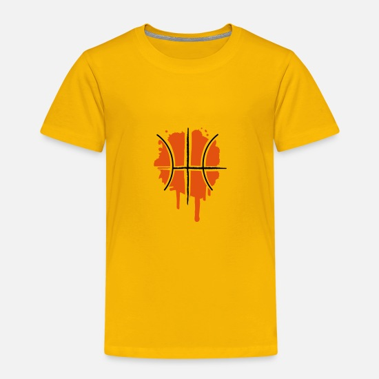Ball T-Shirts - Basketball Graffiti - Kids' Premium T-Shirt sun yellow