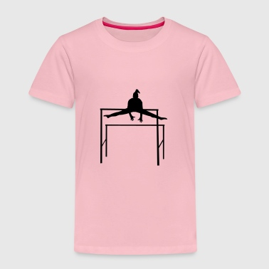 Gymnastics, Gymnast doing Uneven Bars - T-shirt Premium Enfant