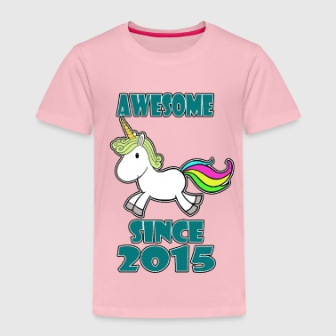 2015 Awesome with unicorn - Kids' Premium T-Shirt