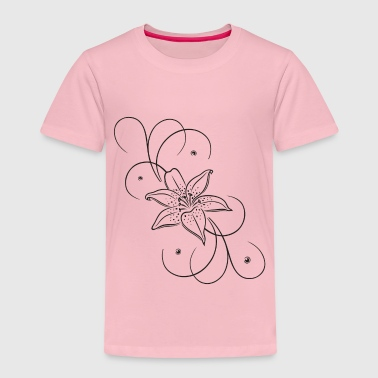 Lily with floral element. Summer time. - Kids' Premium T-Shirt