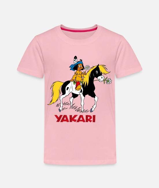 Yakari Und Regenbogen Mit Pferd Kleiner Donner Kinder T-Shirt