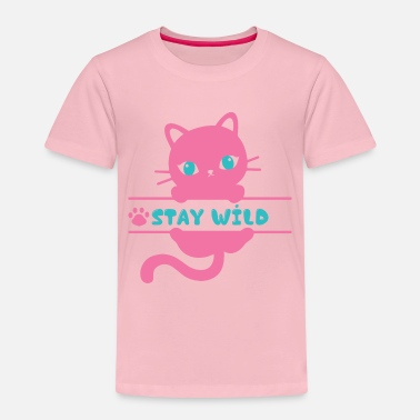 Chat sauvage chat miaou - T-shirt premium Enfant