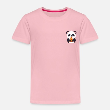 Trending Cute Panda Pizza Illustration - T-shirt Premium Enfant