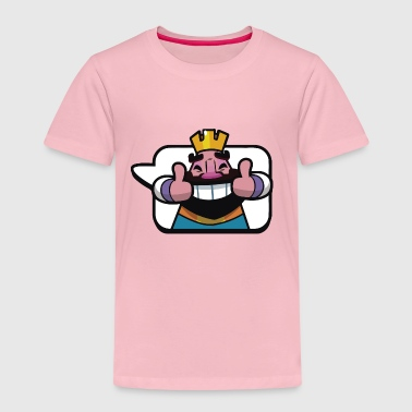 Emoticon King Royale Clash - Kids' Premium T-Shirt