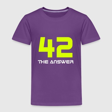 42, the Answer Antwort Galaxis Science Fiction UFO - Kinder Premium T-Shirt