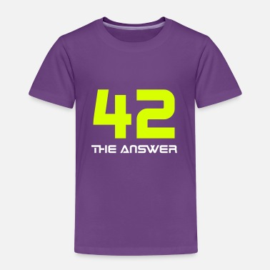 Antwort 42, the Answer Antwort Galaxis Science Fiction UFO - Kinder Premium T-Shirt
