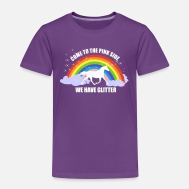 Unicorn *Come to the pink side - we have glitter* - Kids' Premium T-Shirt