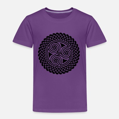 Spiral Celtic Triple Spiral in Celtic band - Kids' Premium T-Shirt