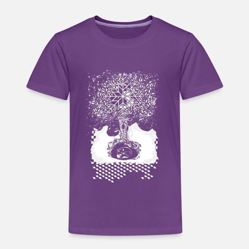 Cave T-Shirts - A tree in the dead of winter - Kids' Premium T-Shirt purple